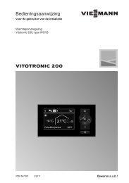 Bedieningsaanwijzing Vitotronic 200 type WO1B964 KB - Viessmann