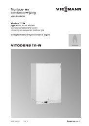 MA-SA_Vitodens 111-W_5618749_03-2012_nl_BE ... - Viessmann