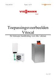 2013-01 toepassingsvoorbeelden Vitocal ... - Viessmann