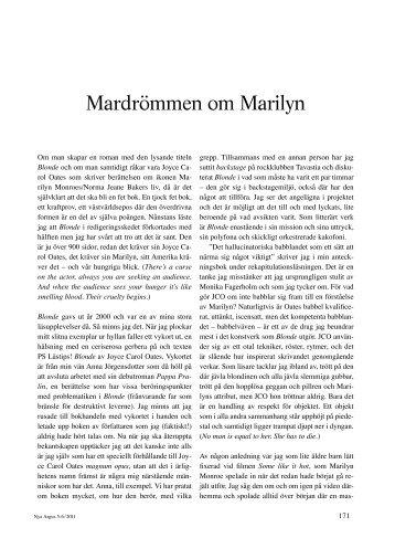 Mardrömmen om Marilyn – Joyce Carol Oates Blonde (pdf)