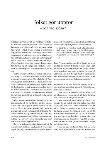 Folket gör uppror – och vad sedan? (pdf)