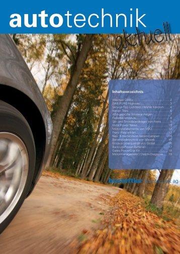 Inhaltsverzeichnis - hostettler autotechnik ag