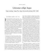 litteratur enligt argus