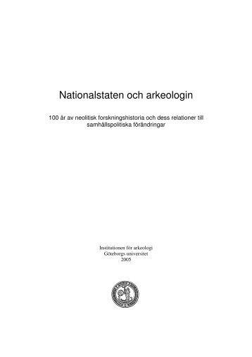 Nationalstaten och arkeologin