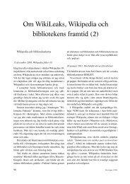 Om WikiLeaks, Wikipedia och bibliotekens framtid (2) (pdf)