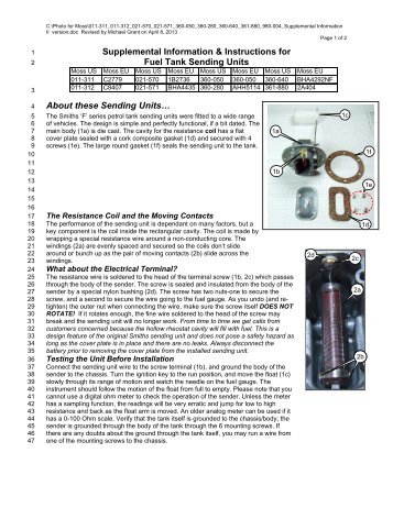 about these sending units moss motors?quality\=85 moss motors mga wiring diagram electrical wiring diagrams