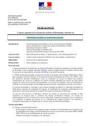 FICHE de POSTE Spécialiste sécurité et gestion des réseaux - Anssi