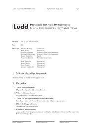 Protokoll fört vid Styrelsemöte Luleå Universitets Datorförening