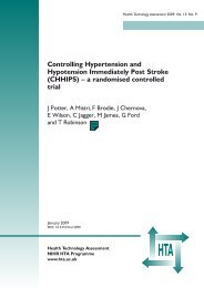 Controlling Hypertension and Hypotension Immediately Post Stroke ...