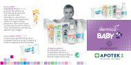 dermica BABY SUNCREAM SPF 30 (100 ml) gir barnet ... - Apotek 1