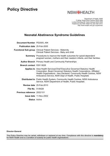 what is neonatal abstinence syndrome health essay Neonatal abstinence syndrome and associated health care  neonatal  abstinence syndrome after methadone or buprenorphine exposure.