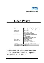Linen policy.pdf - North Somerset PCT