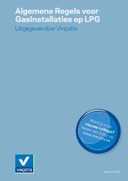 Algemene Regels voor GasInstallaties op LPG - Vinçotte