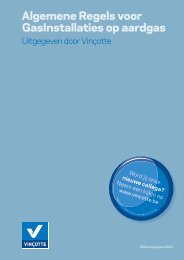 Algemene Regels voor GasInstallaties op aardgas - Vinçotte