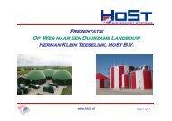 Presentatie HoSt bij de opening Microferm installatie
