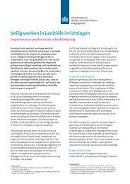 Psychosociale arbeidsbelasting - Veilig werken in ... - Inspectie SZW
