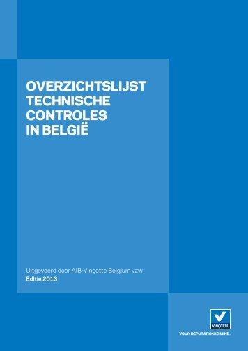 Ga naar Overzichtslijst Technische Controles in België - Vinçotte
