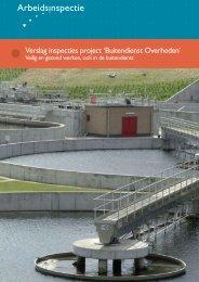 Buitendienst Overheden - Verslag inspecties project - Inspectie SZW