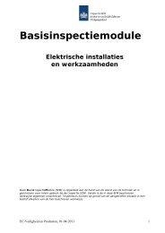 Elektrische installaties en werkzaamheden - Inspectie SZW