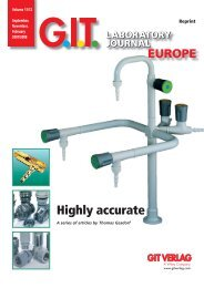 1.When it comes to laboratory fittings - GIT Verlag