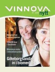 Göteborgsandan in i biomedicin Göteborgsandan in i ... - Vinnova