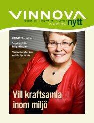 VinnovaNytt #2 april 2007