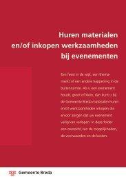 Huren materialen en/of inkopen werkzaamheden ... - Gemeente Breda