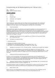 1 Conceptverslag van de Raadsvergadering van ... - Gemeente Breda