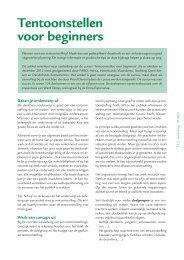Tentoonstellen voor beginners (pdf) - Heemkunde Vlaanderen