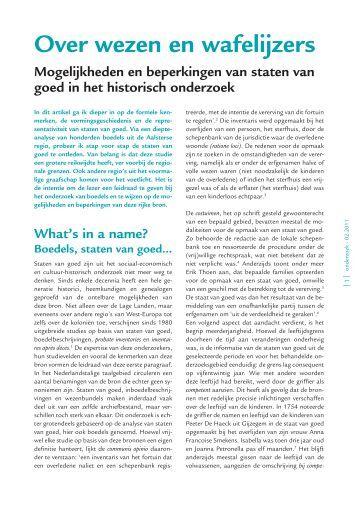Over wezen en wafelijzers - Heemkunde Vlaanderen