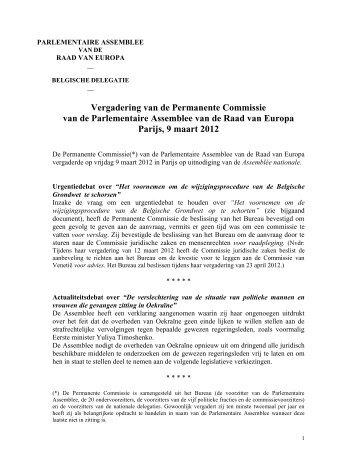 Commission permanente, Oslo, le 7 septembre 2004-08-26