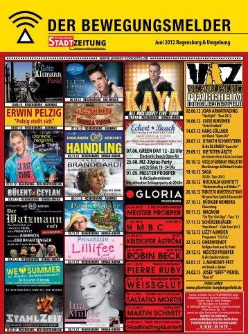 Programm, Bewegungsmelder für Juni - Regensburger Stadtzeitung