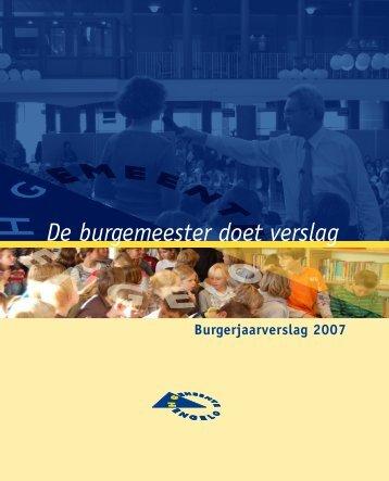 Burgerjaarverslag 2007 - Gemeente Hengelo