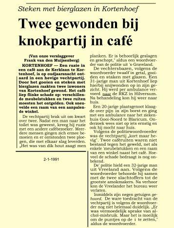 Twee gewonden bij knokpartij in café