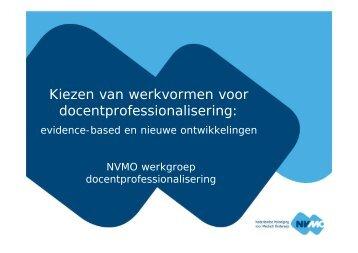 Presentatie - NVMO