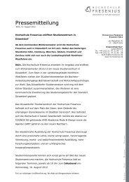 Neues Studienzentrum in Düsseldorf - Hochschule Fresenius