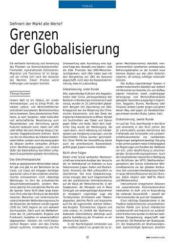 Grenzen der Globalisierung