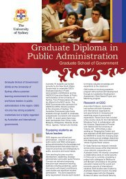 Graduate Diploma in Public Administration - NCOSS