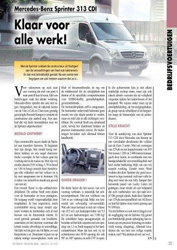 Mercedes-Benz Sprinter 313 CDI Klaar Voor Alle ... - HET BEDRIJF