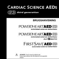BRUGSANVISNING - Cardiac Science