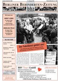 SOZIALES - Berliner Behindertenzeitung
