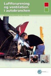 Luftforurening og ventilation i autobranchen - Industriens ...