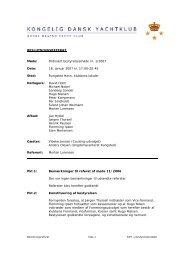 Beslutningsreferat 1-2007