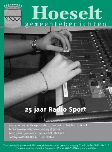25 jaar Radio Sport - Hoeselt.Be