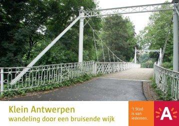 Wandelbrochure Klein Antwerpen - Visit Antwerpen