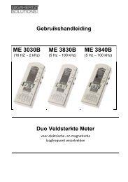 Gebruikshandleiding ME 3030B ME 3830B ME 3840B - Vitalitools