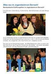 Alles neu im Jugendzentrum Dornach! - Verein Jugend & Freizeit