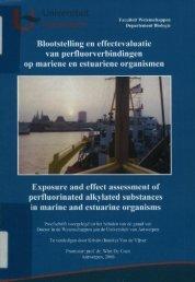 Blootstelling en effectevaluatie van pertluorverbindingen op mariene ...