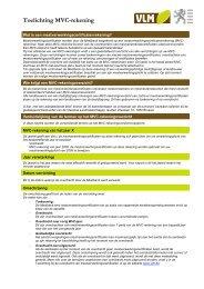 Toelichting MVC-rekening - Vlaamse Landmaatschappij