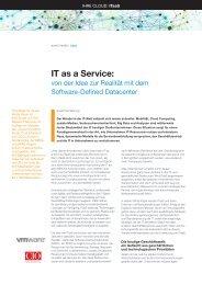 IT as a Service: von der Idee zur Realität mit dem Software ... - VMware